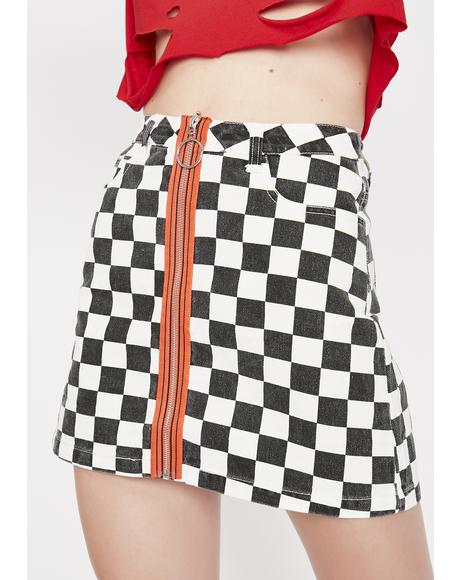 Get Like Me Checkered Skirt