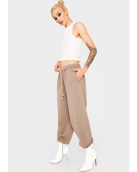 Chocolate Jogger Sweatpants