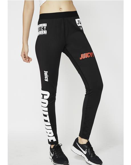 Mixed Logos Sport Compression Leggings