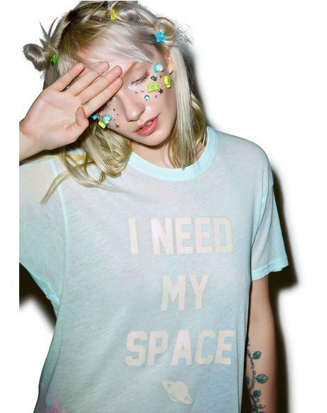 I Need My Space Oversized Tee