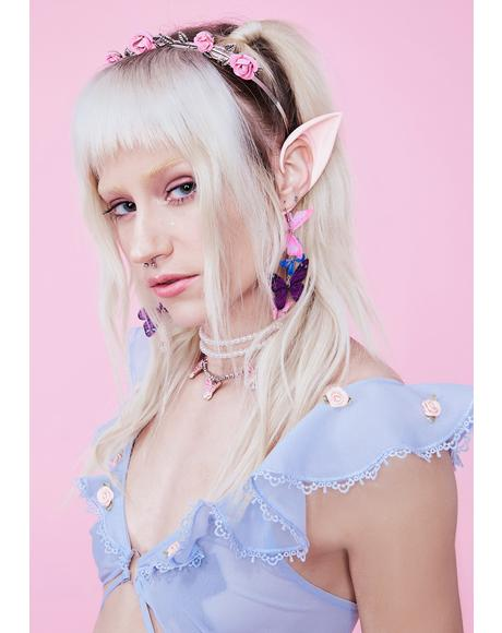 Peach Short Elf Ears