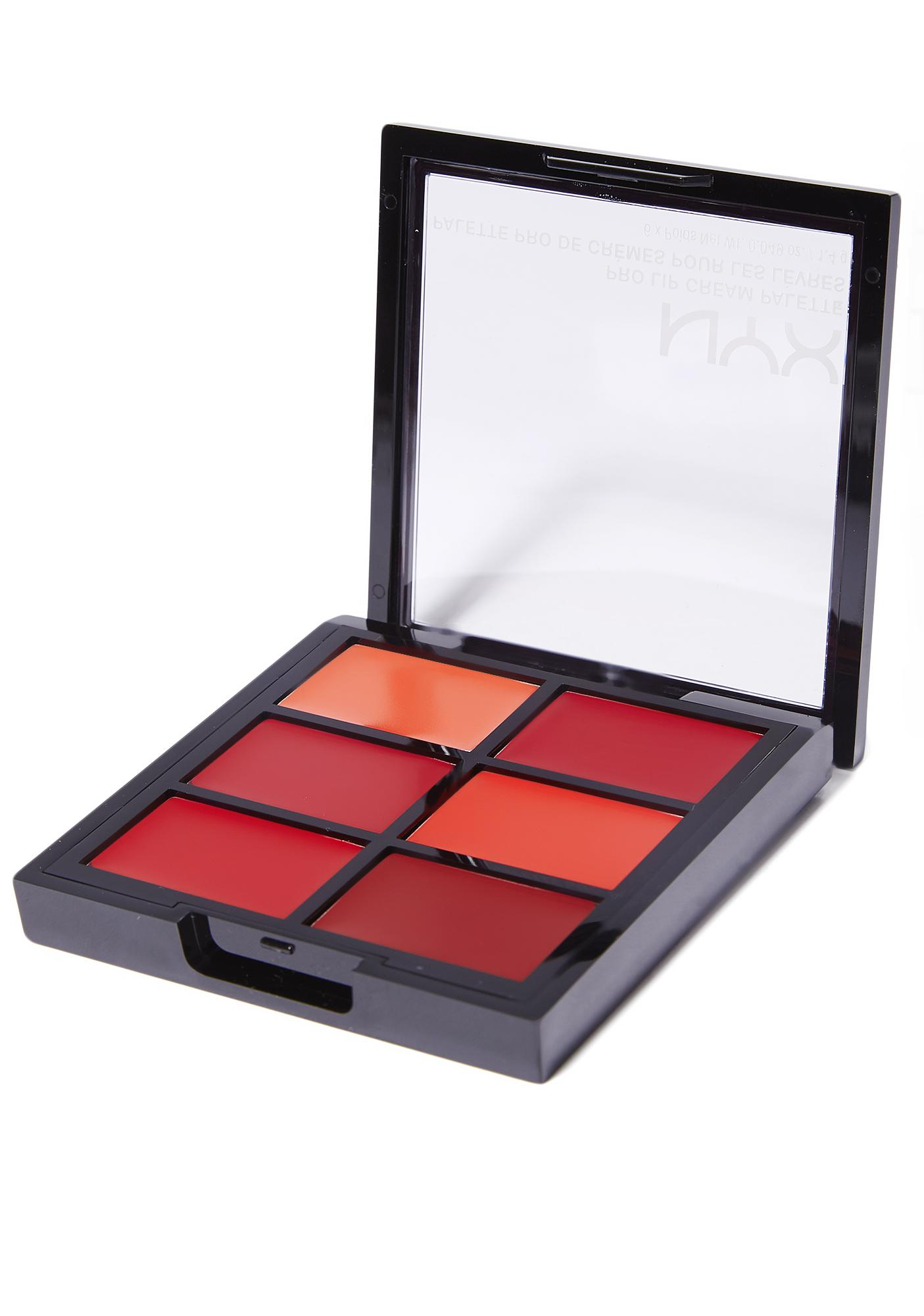 NYX The Reds Pro Lip Cream Palette
