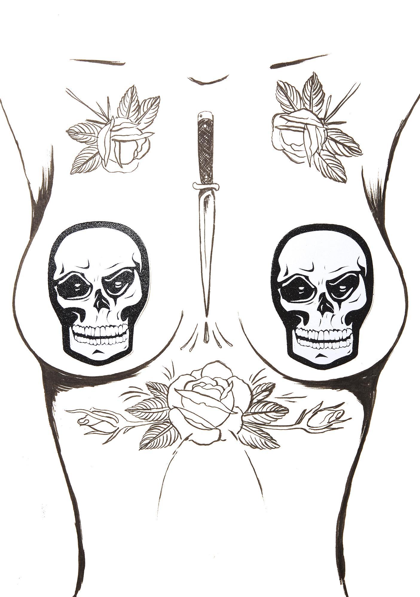 Pastease Skull Face Pasties