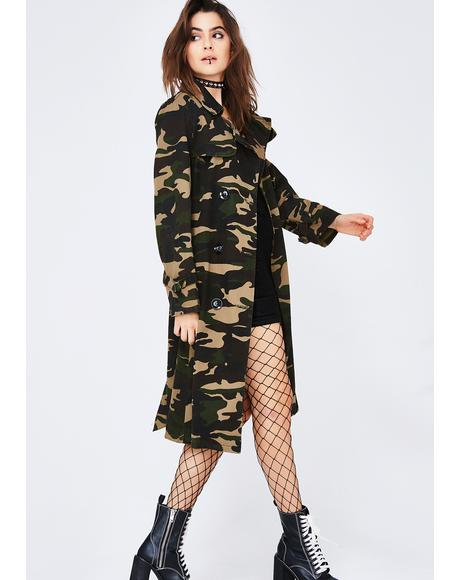 Outta Sight Camo Trench