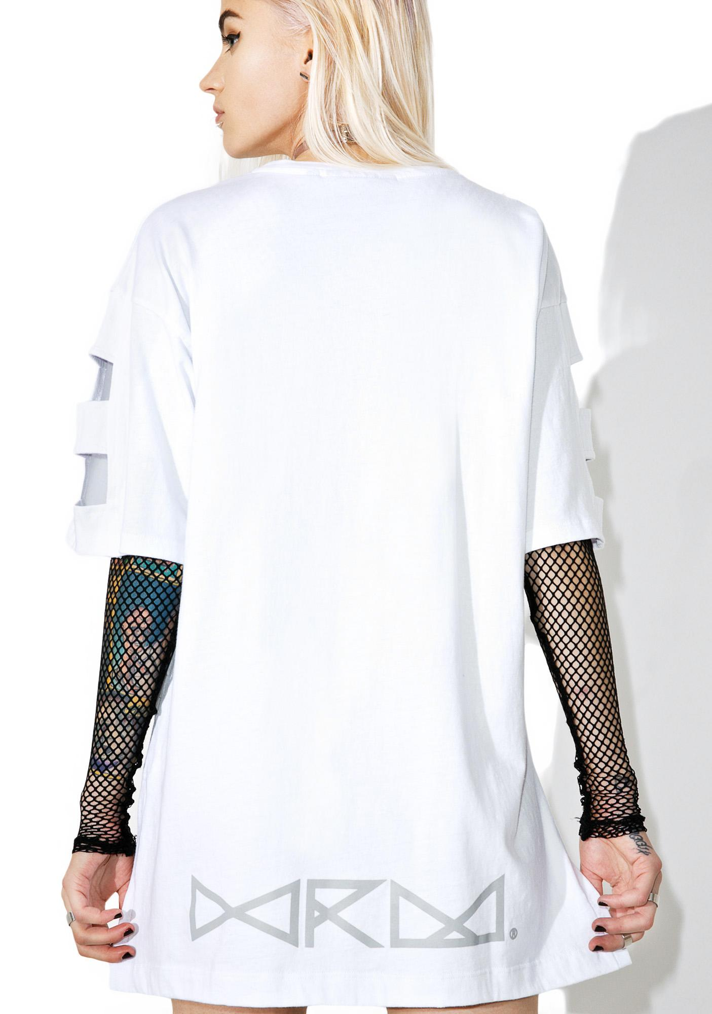We Are Mortals Cutout Crewneck Tee