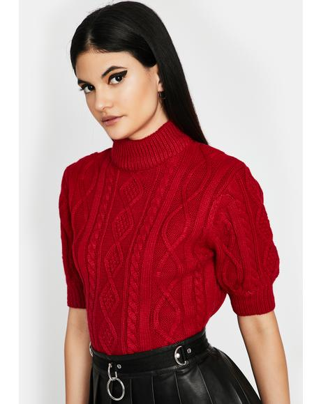 Hot Small Town Sass Knit Sweater