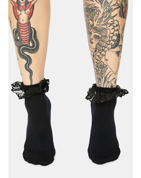 Bewitched Blushin' Ruffle Socks