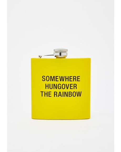 Somewhere Hungover Metal Flask