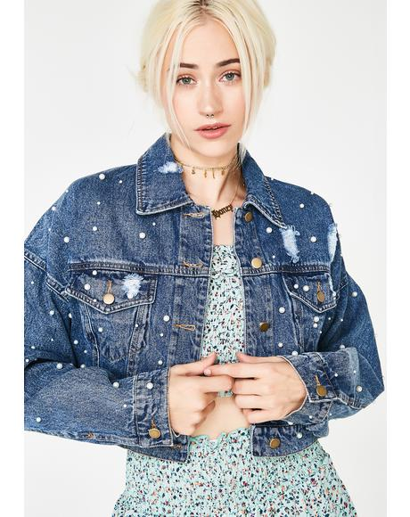 What A Pearl Denim Jacket