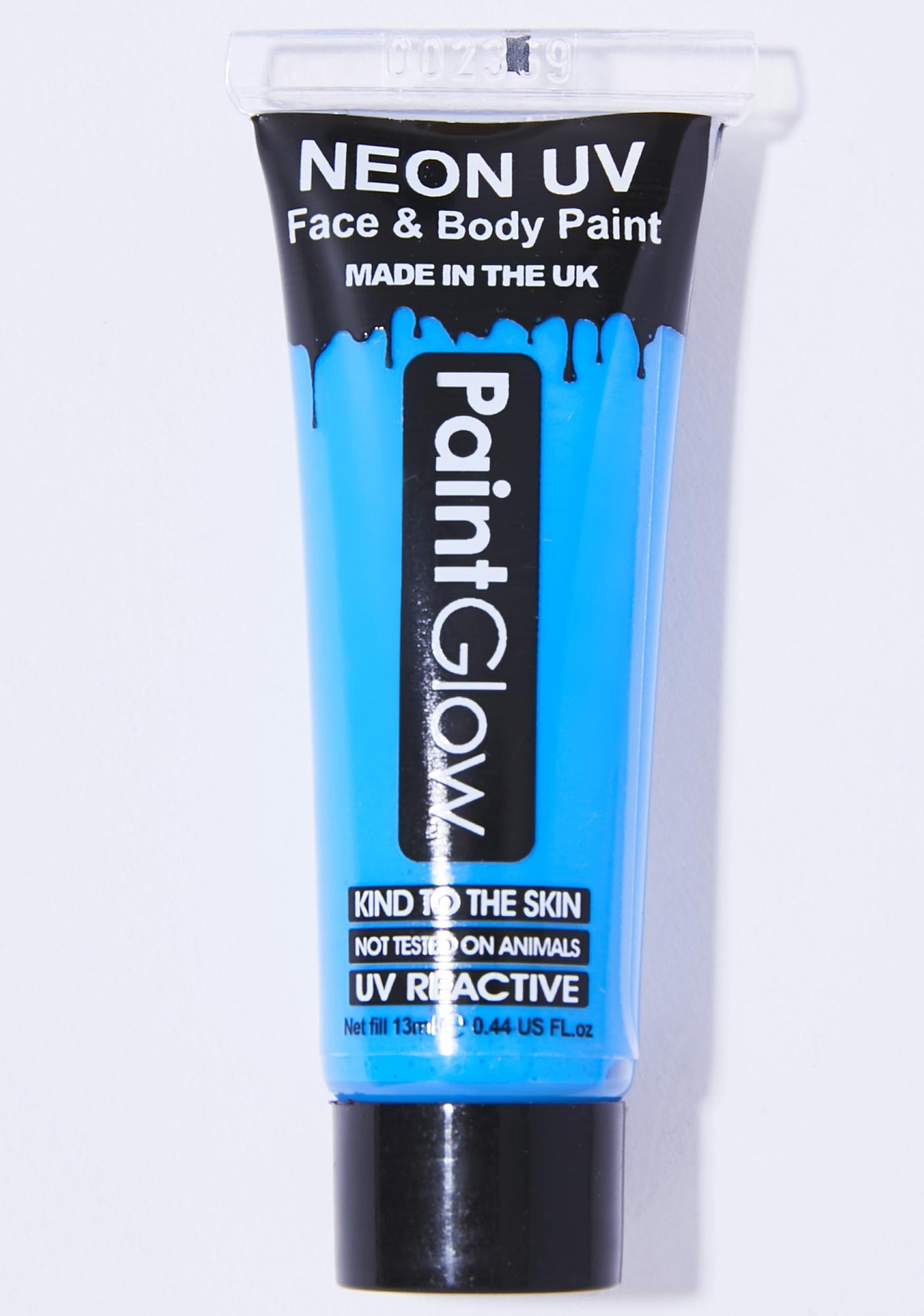 Intense Blue Rave On UV Face N' Body Paint