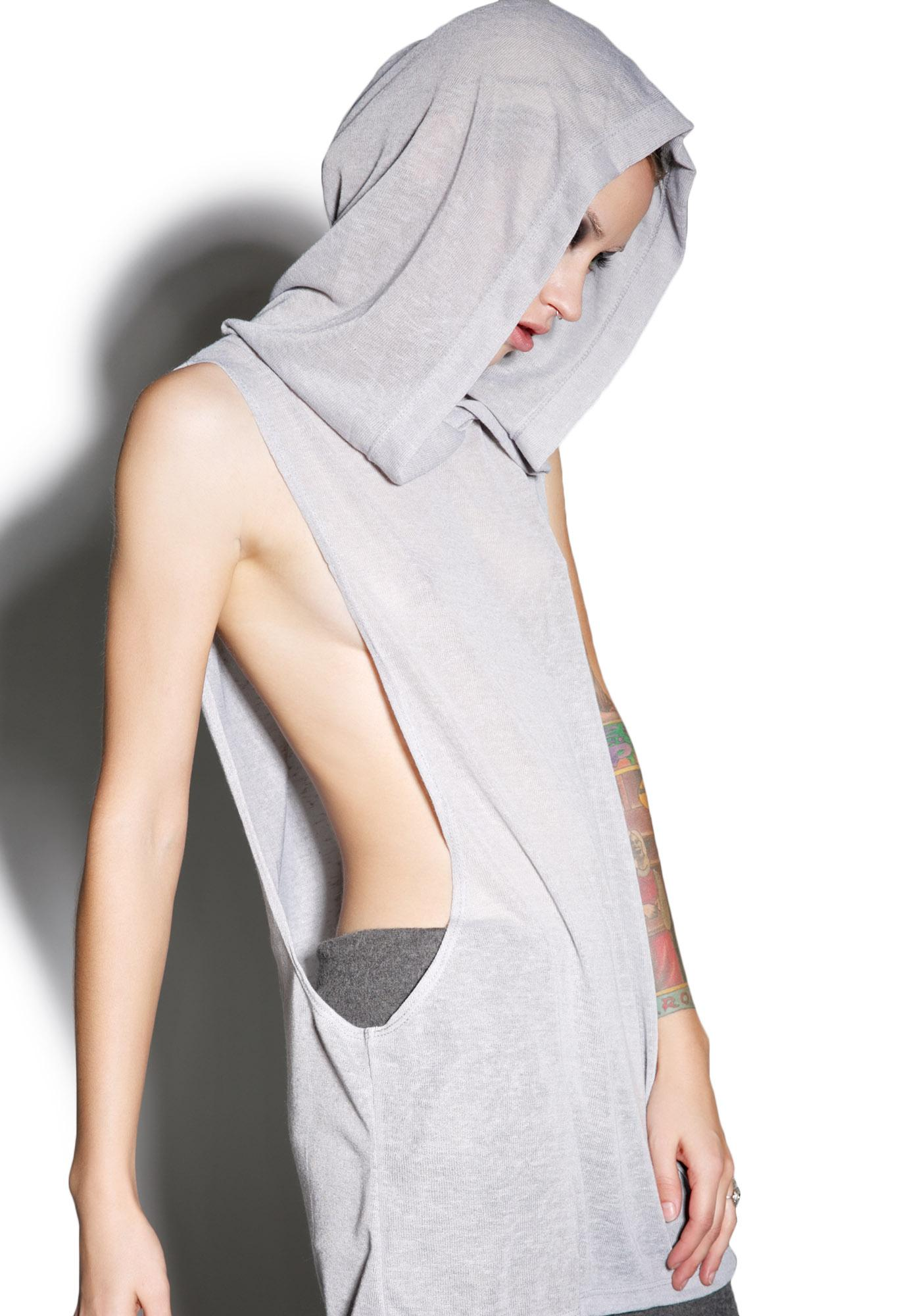 MNML Slate Hallucinations Hooded Tank