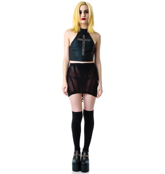 Lip Service Immortal Coil Corset Mesh Skirt