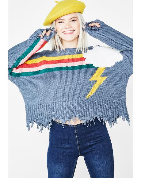Rainbow Storm Sweater