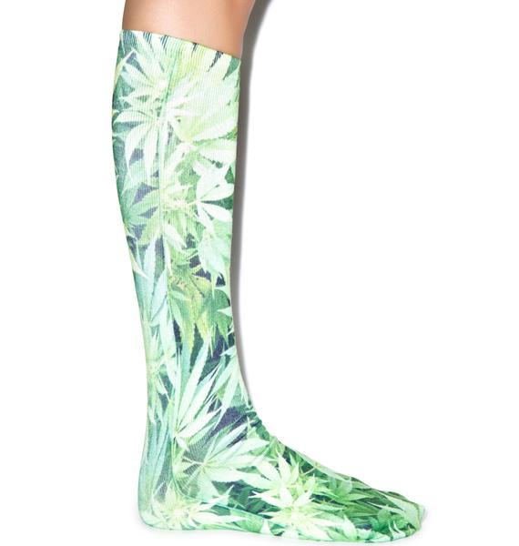 Keepin' It Kush Knee High Socks