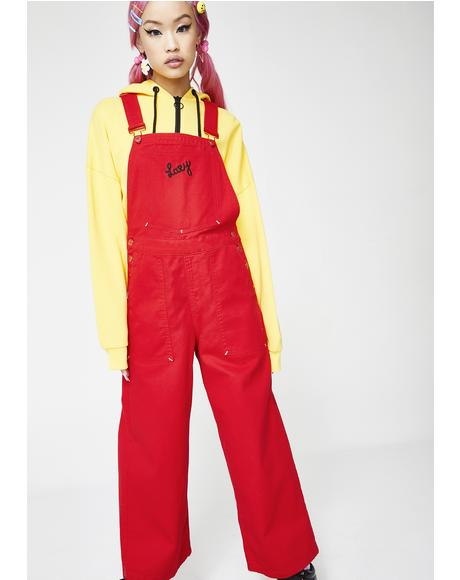 Red Faced Dungarees