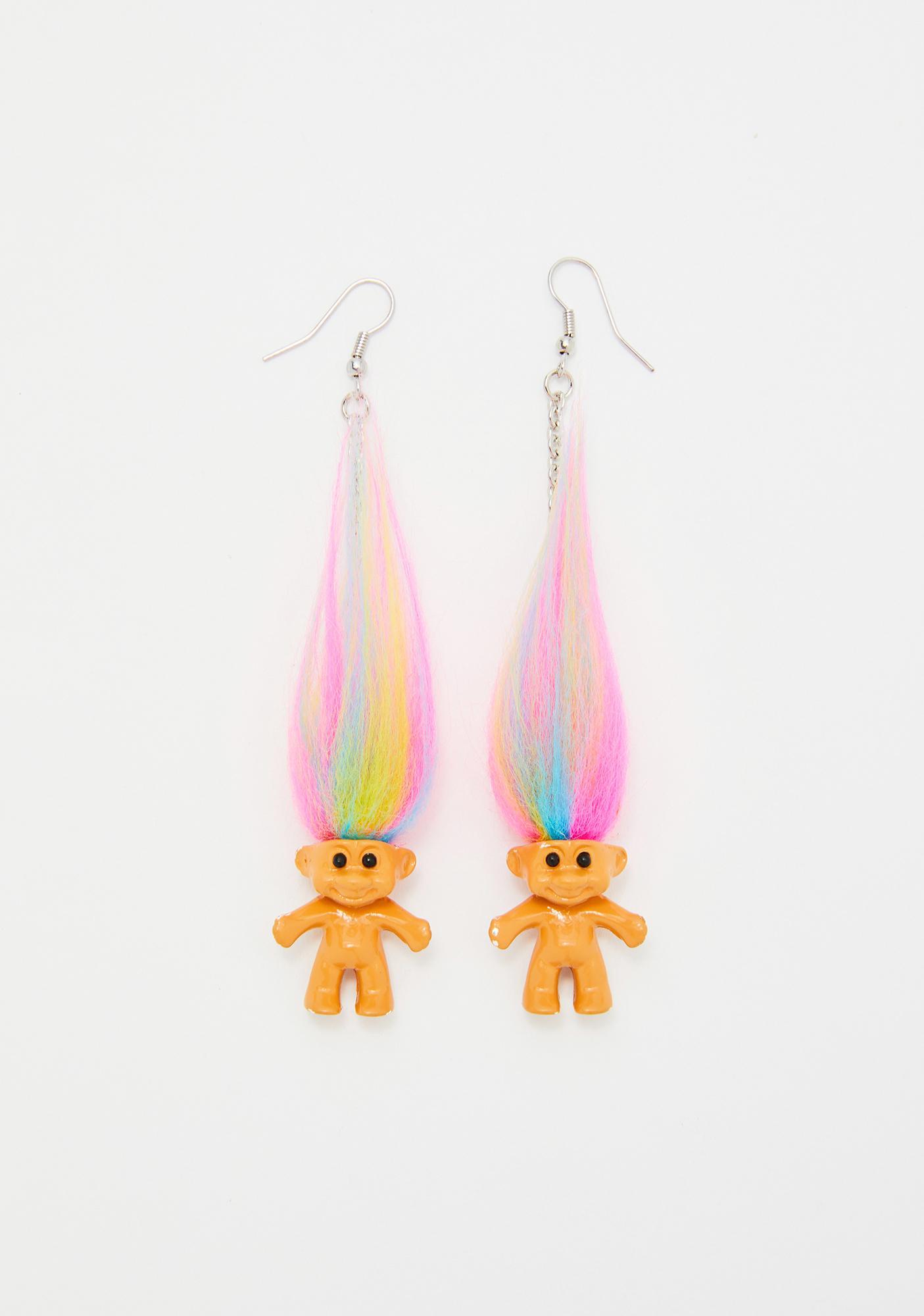 Good Luck Trolls x Dolls Kill Troll Earrings