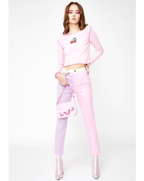 Pretty In Pastel Denim Jeans