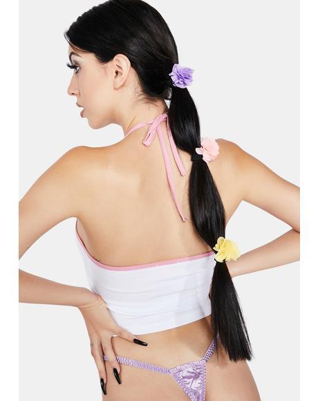 Dream Garden Floral Hair Ties