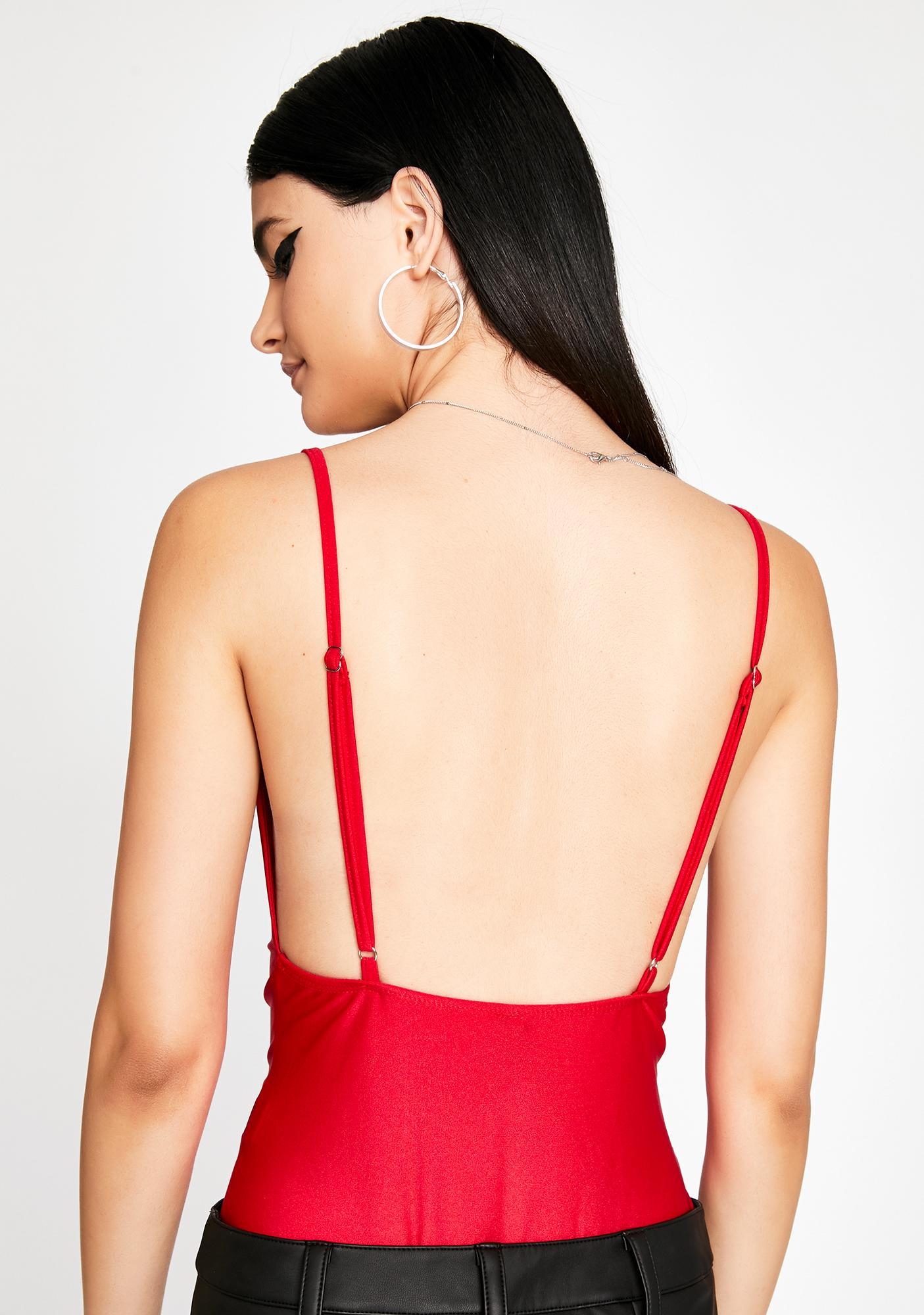 Scarlet Crush Love Lurex Bodysuit