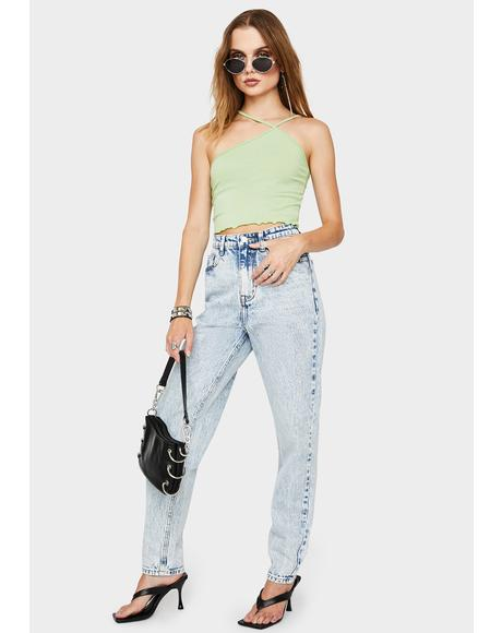 Mid Blue Acid Mom Jeans