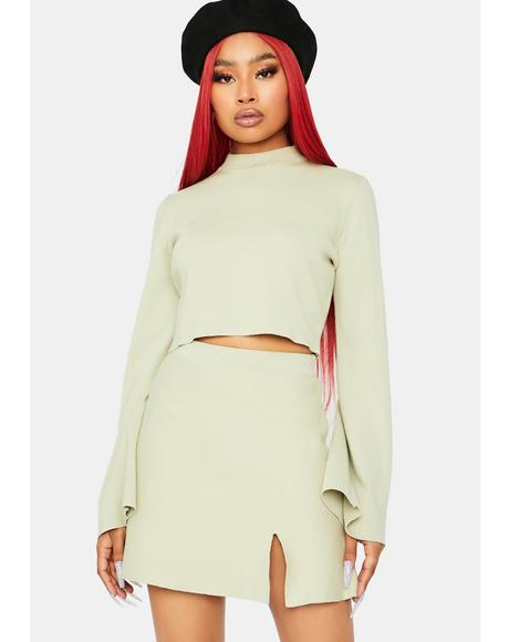Posh Player Sweater Skirt Set