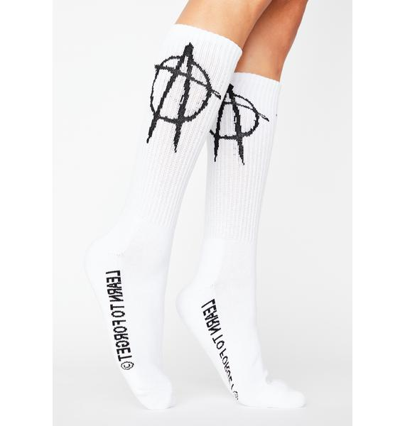 Learn To Forget Anarchy Crew Socks