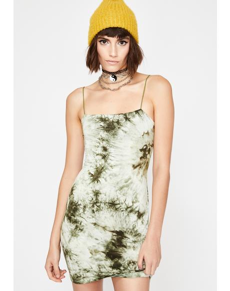 Dank Curfew Crusader Tie Dye Dress