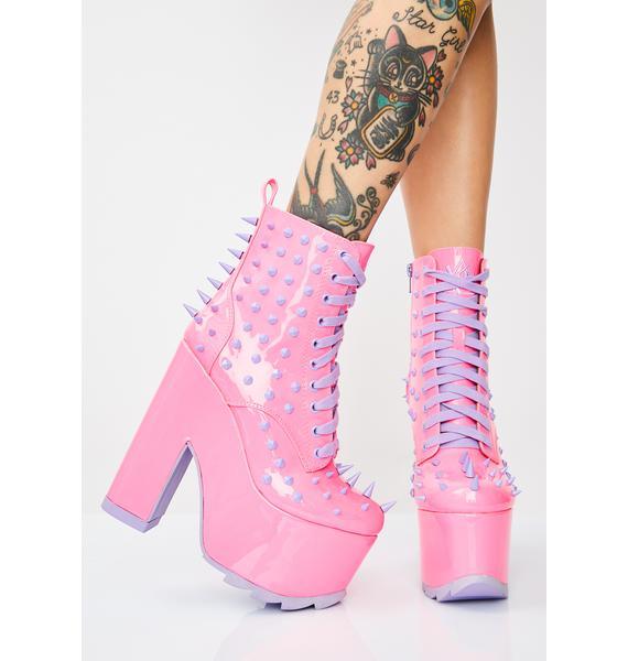 Y.R.U. Candy Night Terror Platform Boots