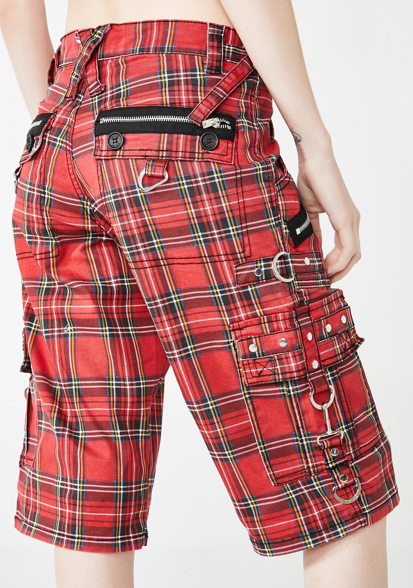 Tripp NYC Plaid Punk Rock Shorts