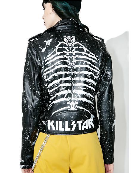 Gimme Bones Biker Jacket