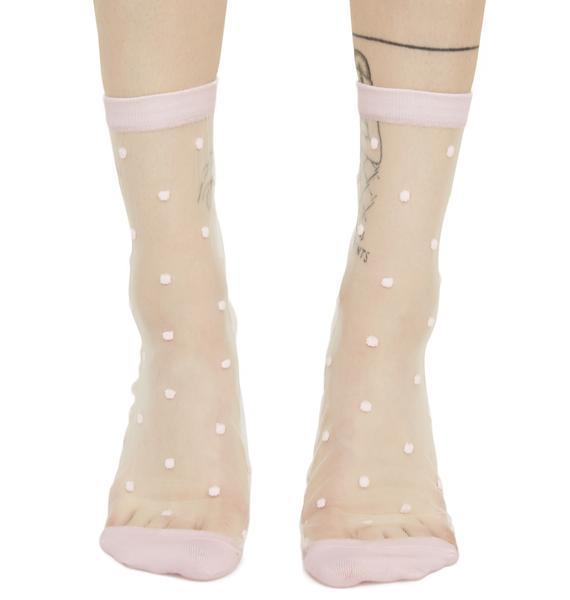 Dear Dottie Sheer Ankle Socks