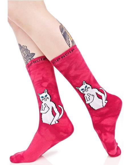 Pink Catfish Socks