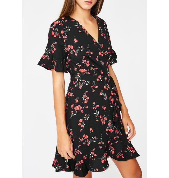 Blooming Babe Wrap Dress