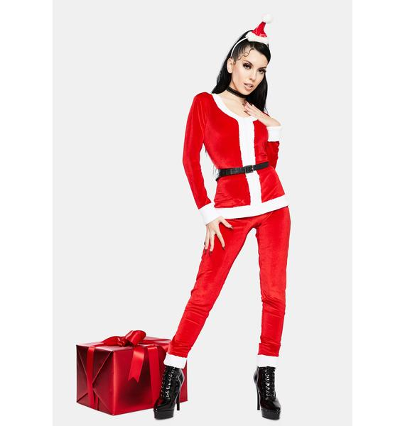 Tipsy Elves Women's Santa Jumpsuit