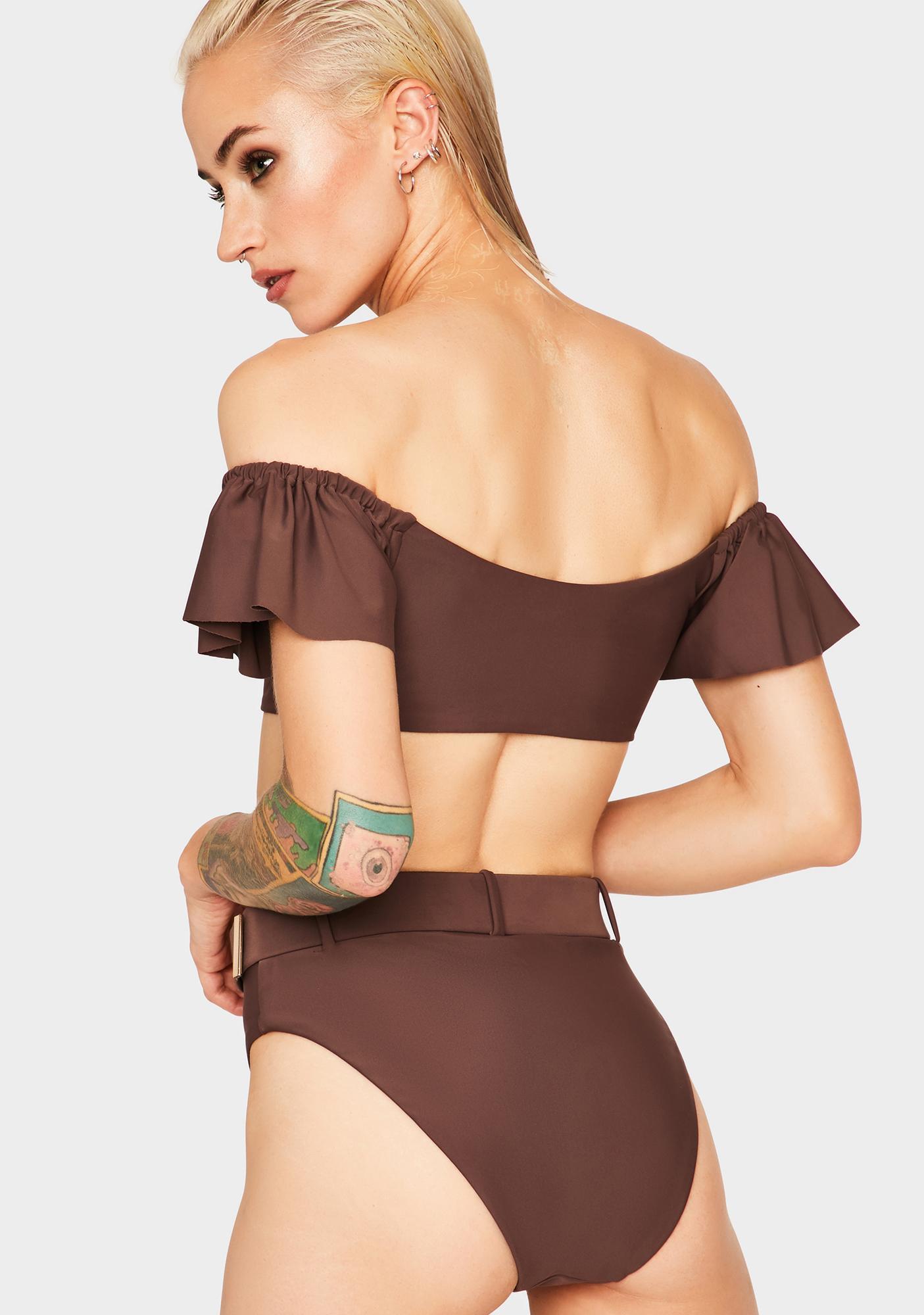Mink Pink Coco Off The Shoulder Bikini Top