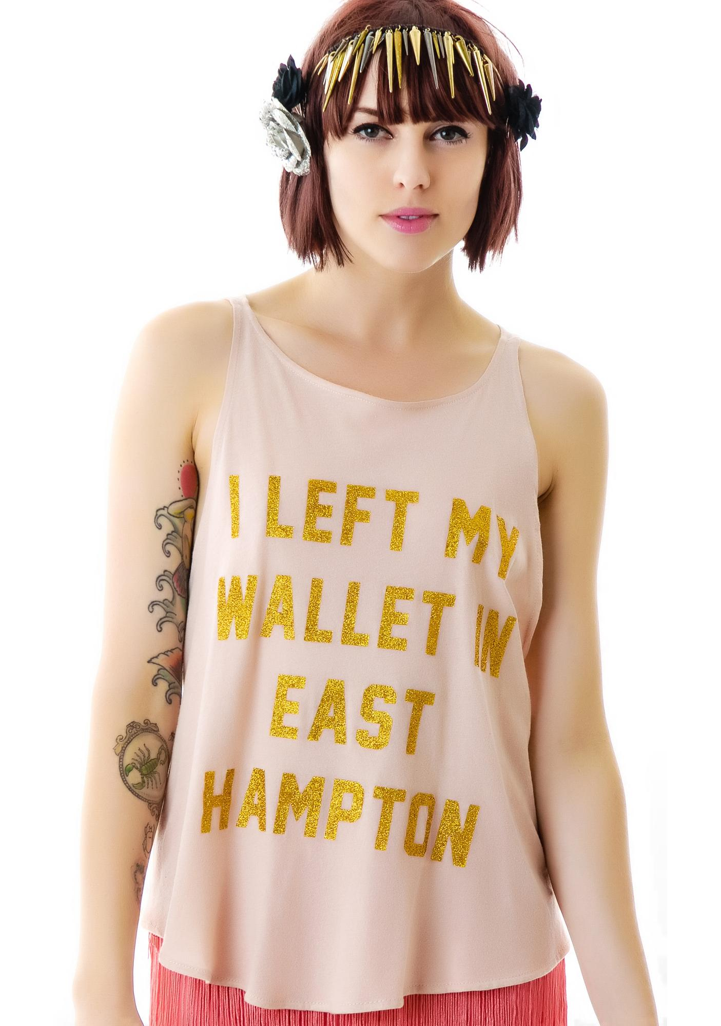 Wildfox Couture Left my Wallet Cassidy Tank