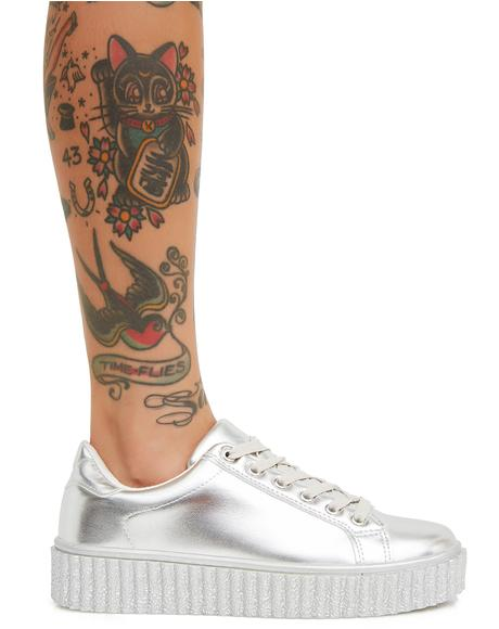 Liquid Dreams Metallic Sneakers