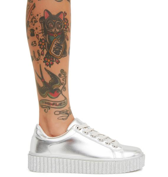 Liquid Dreams Metallic Sneakers