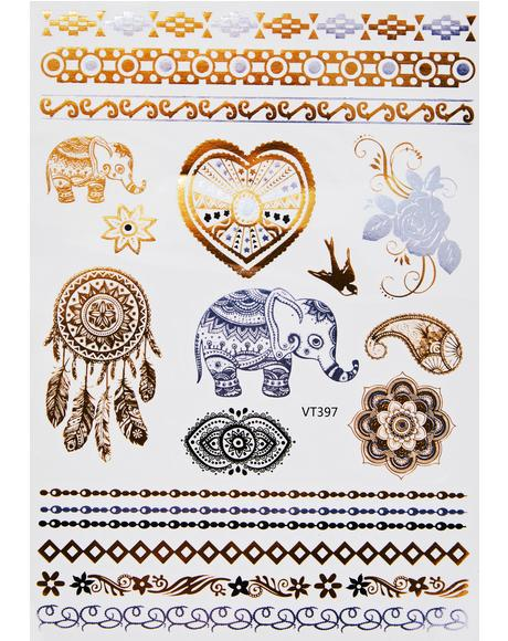 Time To Shine Temporary Tattoos