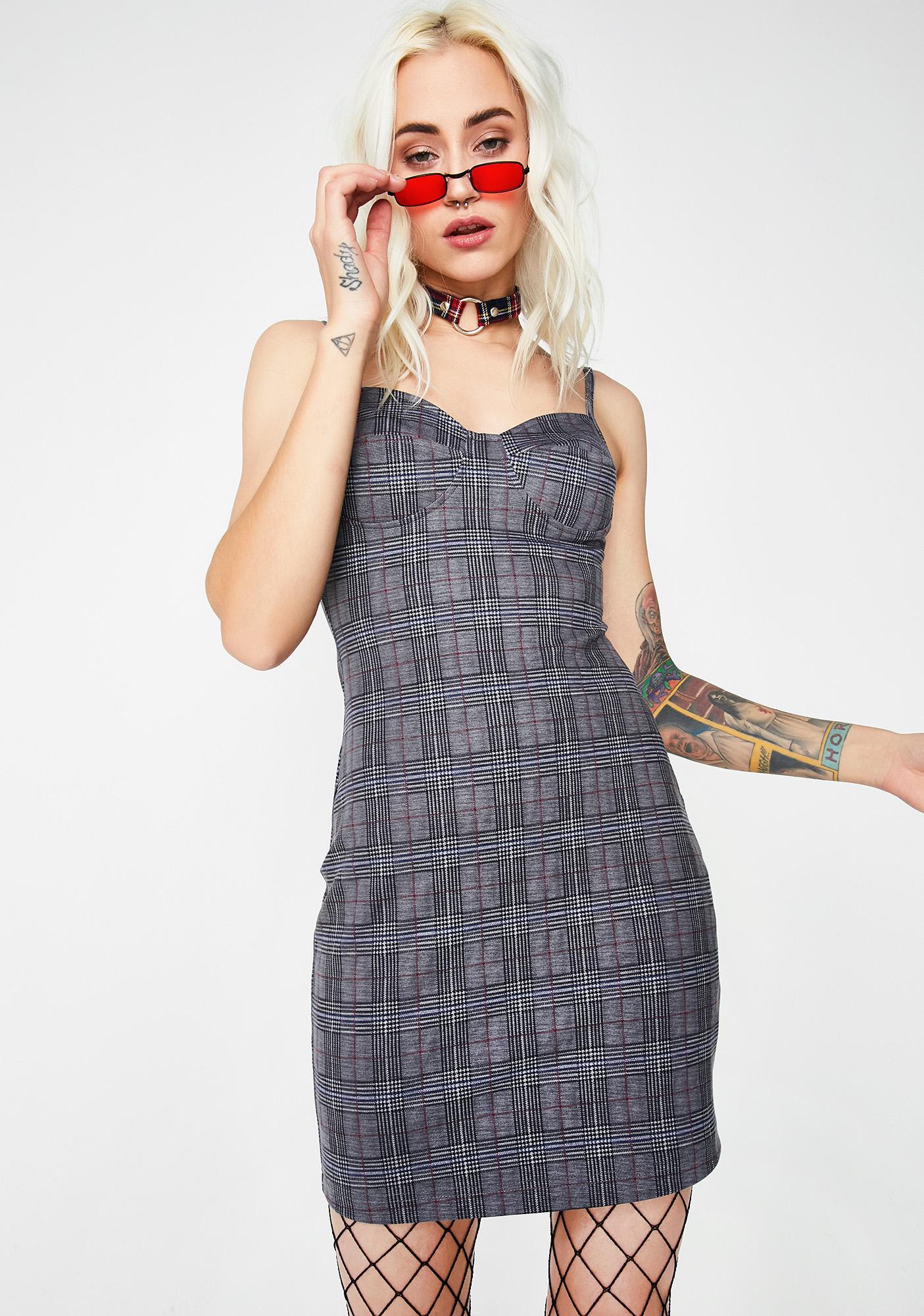 Superlative Plaid Dress