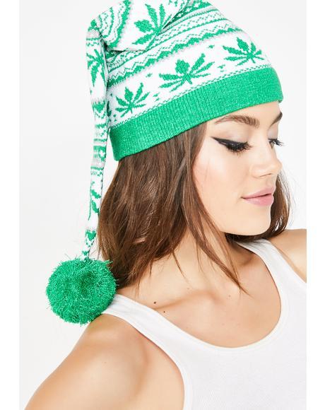 Fair Isle Plant Knit Hat