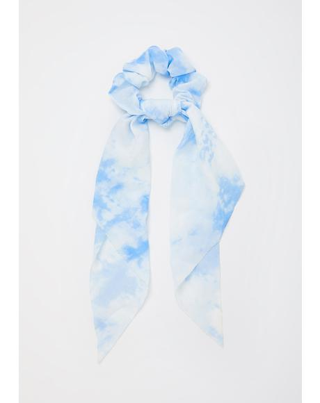 Sky Fazed Out Scrunchie Scarf