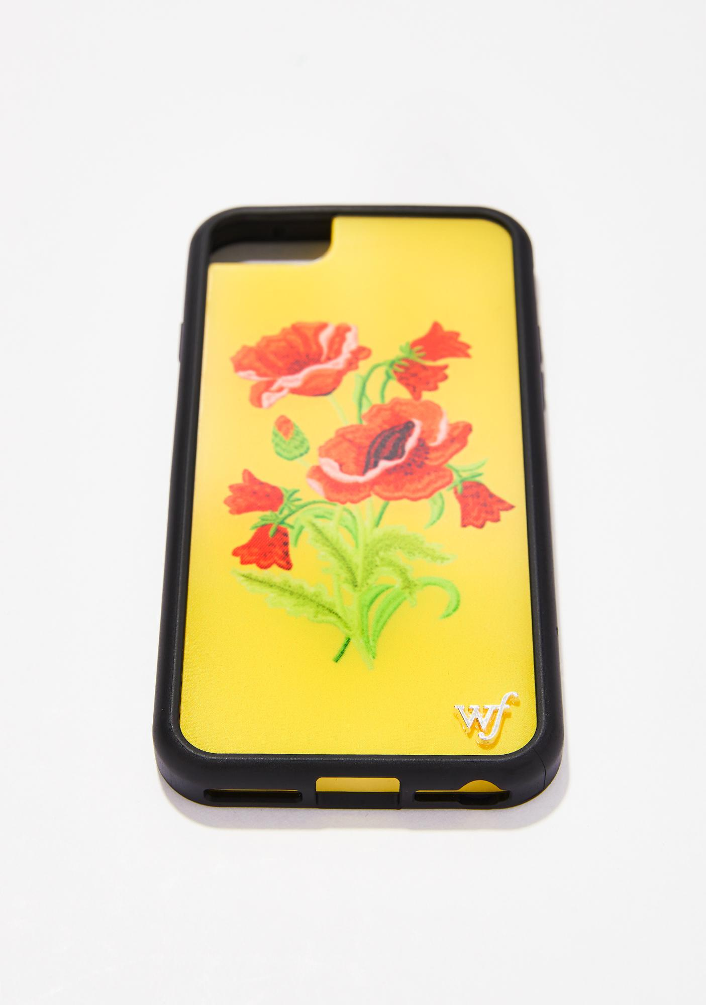 Wildflower Yellow Floral iPhone Case