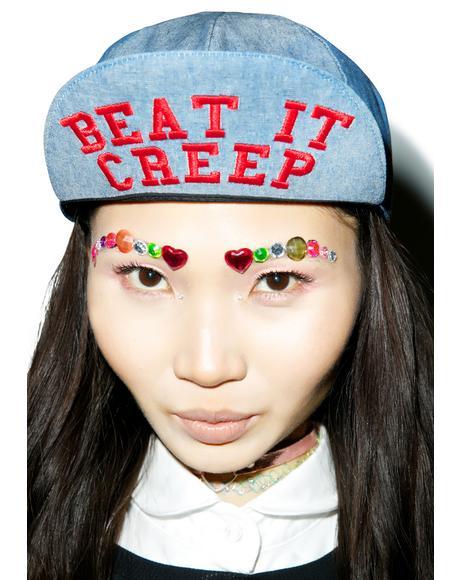 Beat It Creep Messenger Hat