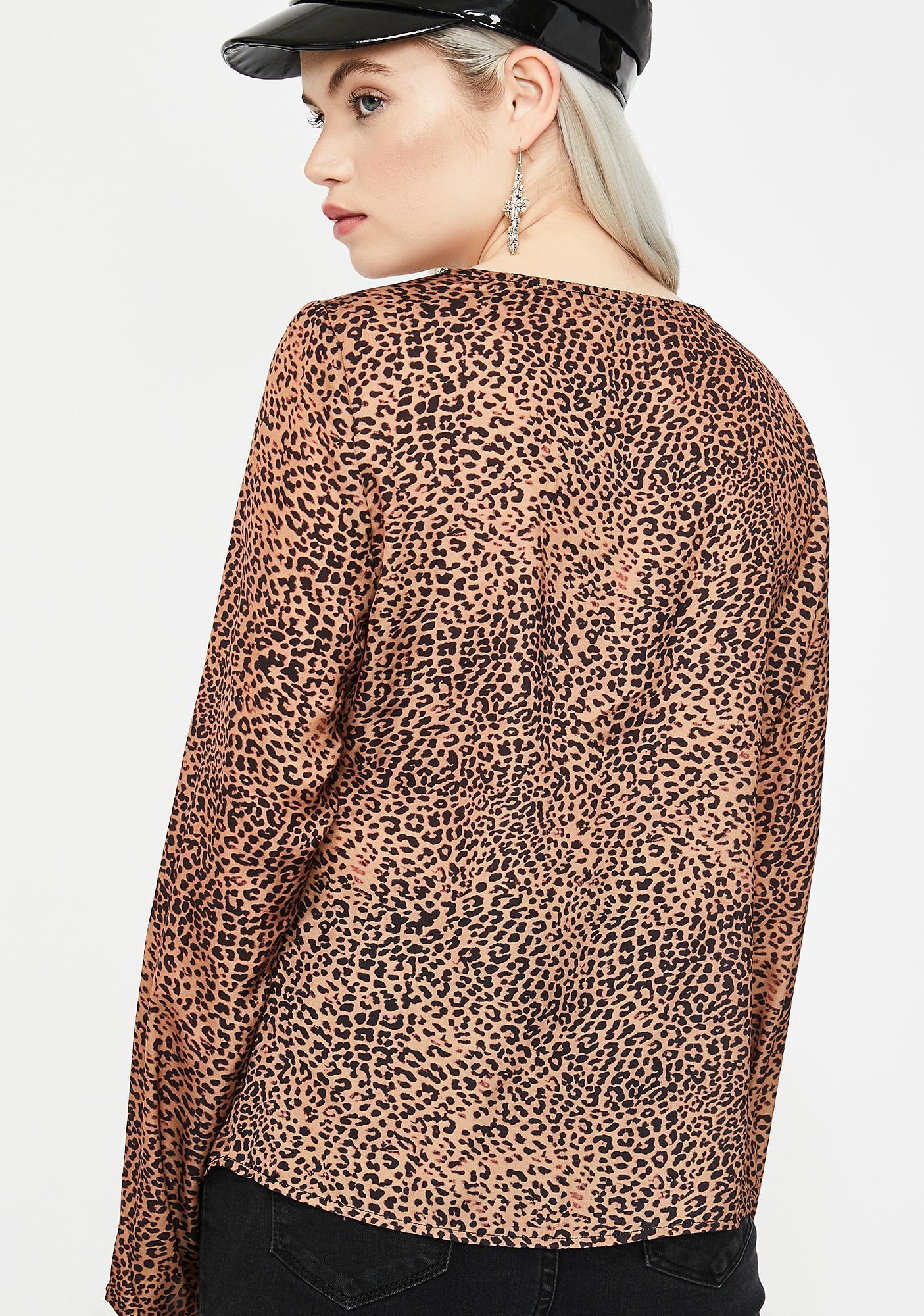 Cheetah Chic O- Ring Top