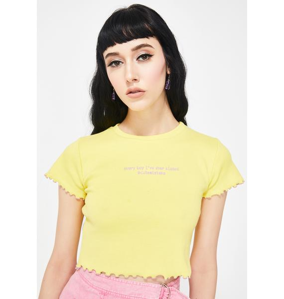 Cute Mistake LOL JK Ribbed Crop Tee