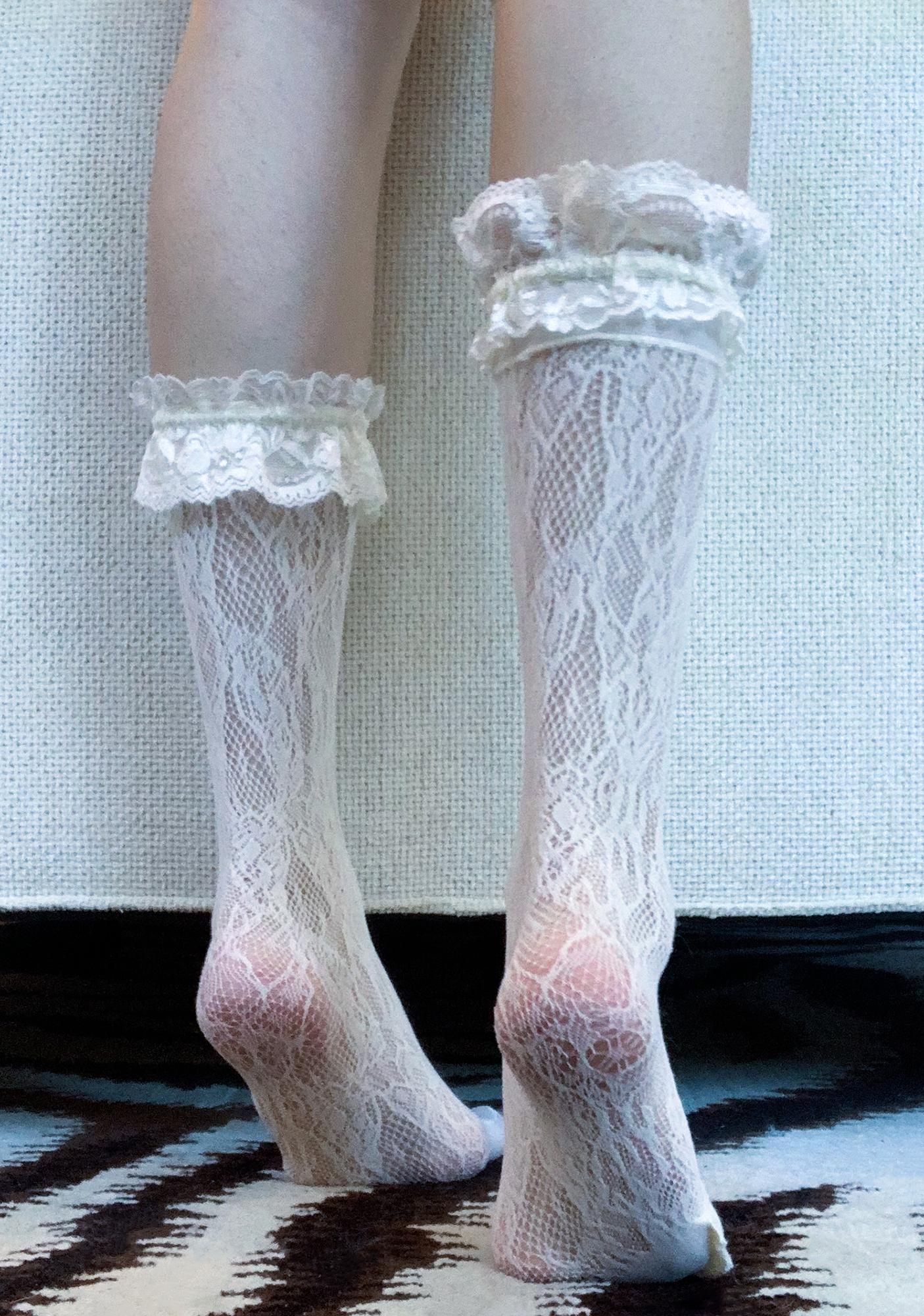 Mind Ur Manners Lace Socks