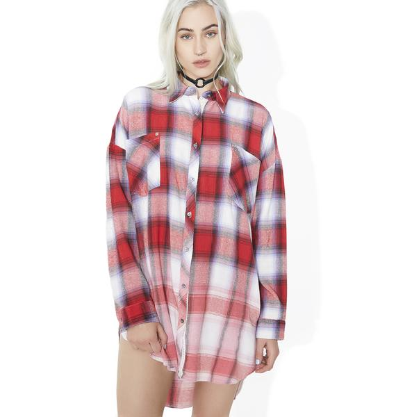 New Edition Flannel Button Down