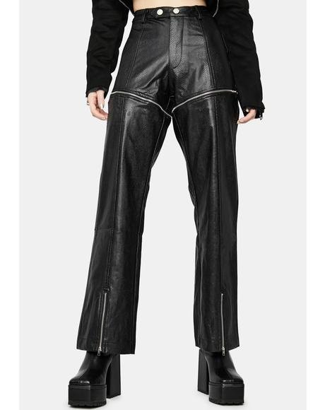 Moto Mission Vegan Leather Zip-Off Pants