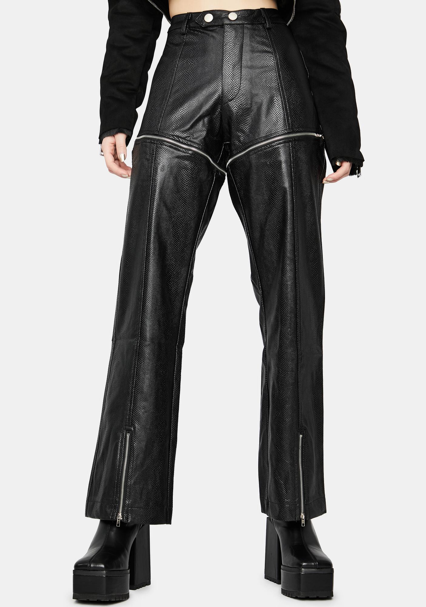 Moto Mission Vegan Leather Zip-Off Pants